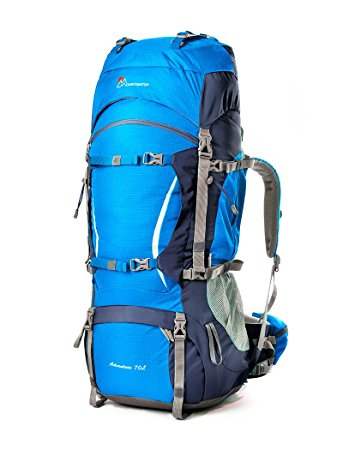 Mountaintop 70L+10L Outdoor Sport Water-resistant Internal Frame Backpack Hiking Backpack