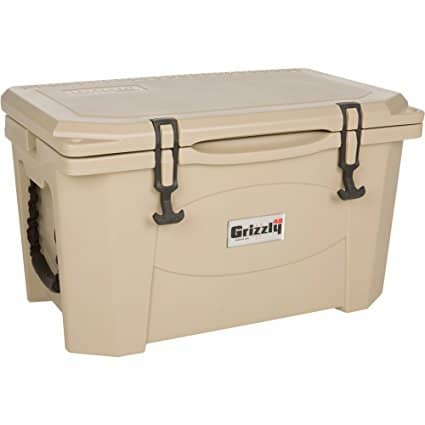 Grizzly 40 Quart Tan Cooler