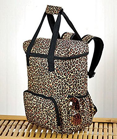 Leopard Print Over sized Insulated Cooler Storage