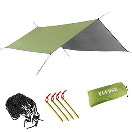 YUEDGE-Portable-Lightweight-Waterproof-Rain-Tarp-Rain-Fly-Tent-Tarp-Shelter-Sunshade