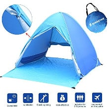 Kingstar Waterproof 2-3 Person Pop Up Beach Tent – For the Carry-and-Go Beach Goer