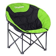 King Camp Moon Saucer Camping Chair Steel Frame Folding Padded Round Portable Stable with Carry Bag