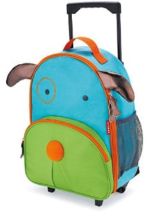 Skip Hop Zoo Little Kid and Toddler Travel Rolling Luggage Backpack, Ages 3+, Multi Darby Dog