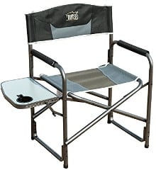 Timber Ridge Aluminum Portable Director's Folding Chair with Side Table – top pick for portability