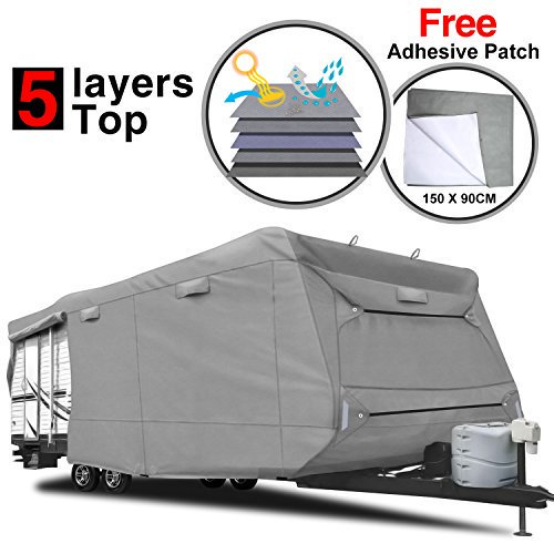 RVMasking KAKIT Heavy Duty 5 Layers Travel Trailer RV Cover